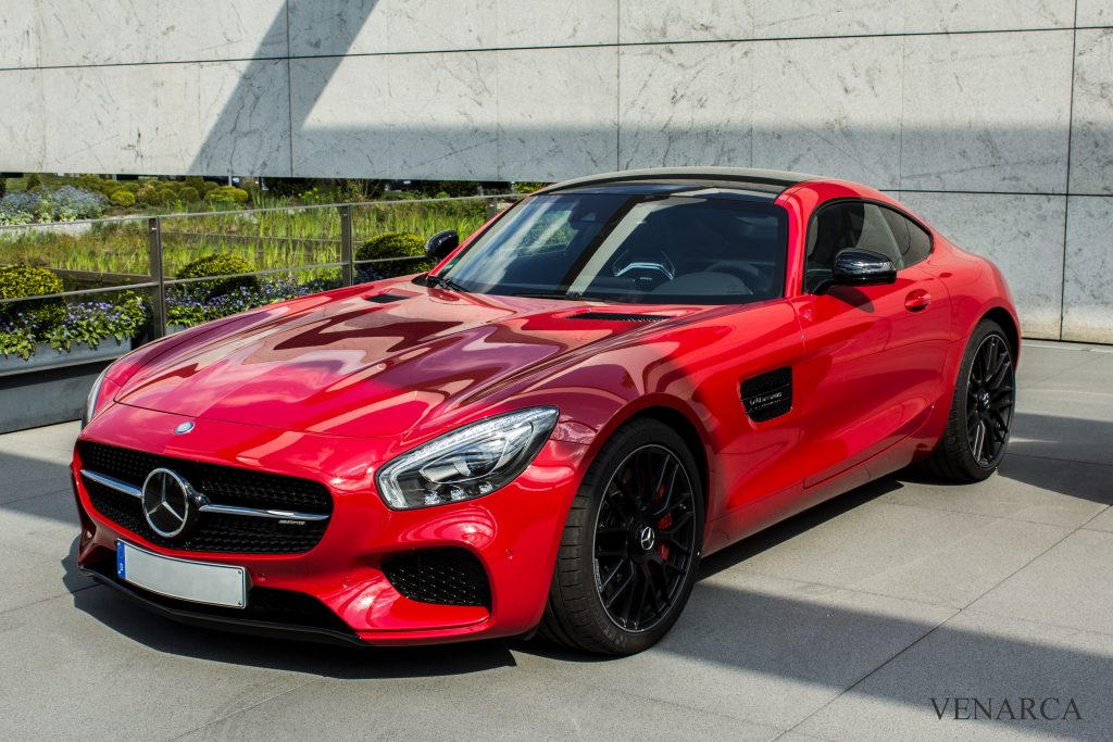 Mercedes M178 Engine AMG GT red
